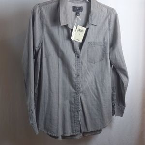 New! Lucky Brand Large Shirt Tunic Top Buttons